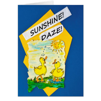 """Sunshine Daze"" note card"