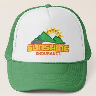 Sunshine Endurance Green Logo Retro Trucker Hat