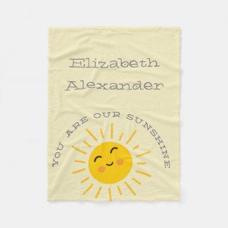 Sunshine Fleece Baby Blanket