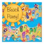 Sunshine Flip Flops Beach Party Personalised Invite
