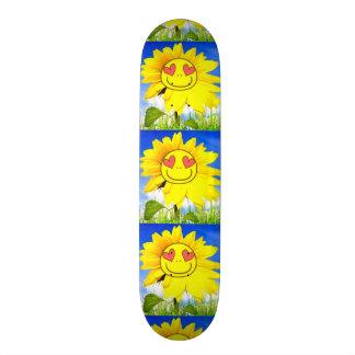 Sunshine flower, i love you so, funny happy bliss custom skateboard
