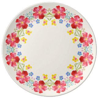 Sunshine Garden Flowers Decorative Porcelain Plate