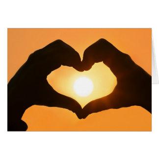 Sunshine Heart Valentine's Day Card