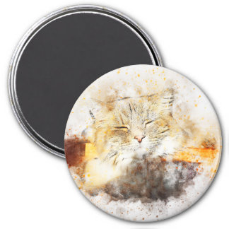 Sunshine Kitty | Abstract | Watercolor Magnet