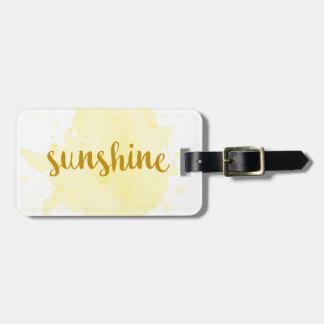 Sunshine Luggage Tag