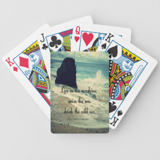 Sunshine ocean sea quote bicycle playing cards