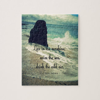 Sunshine ocean sea quote jigsaw puzzle