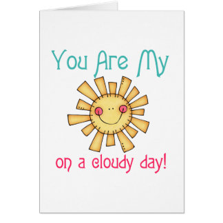 Sunshine on a Cloudy Day Note Card