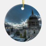 Sunshine over St. Paul's Cathedral, London Round Ceramic Decoration