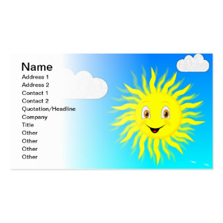 Sunshine Pack Of Standard Business Cards
