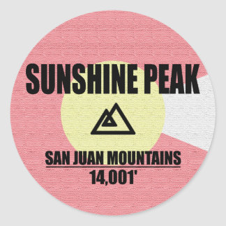 Sunshine Peak Round Sticker