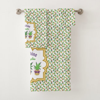 Sunshine Pineapples Pattern Bath Towel Set