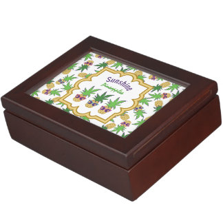 Sunshine Pineapples Pattern Keepsake Box