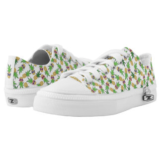 Sunshine Pineapples Pattern Printed Shoes