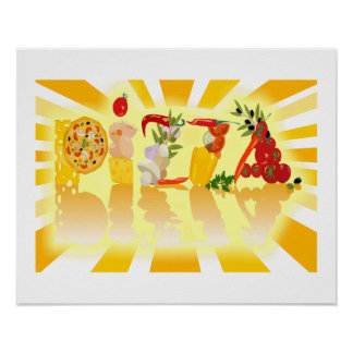 Sunshine Pizza Posters