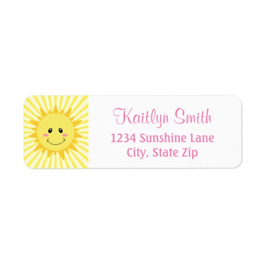 Sunshine Return Address Label