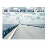 Sunshine Skyway Bridge St. Petersburg Florida 1959 Postcard