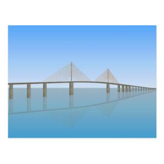 Sunshine Skyway Bridge: Tampa Bay: Postcard