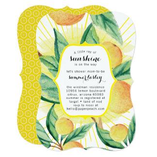 Sunshine Summer Baby Shower Invitations