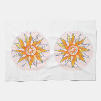 Sunshine Sunflower Artistic Presentation Tea Towel