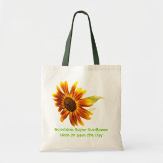 Sunshine Super  Sunflower Budget Tote Bags