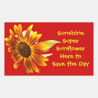 Sunshine Super Sunflower Rectangle Sticker