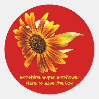 Sunshine Super Sunflower Round Sticker