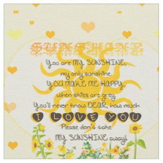 Sunshine with Hearts Fabric