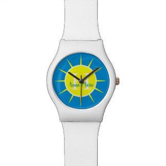 Sunshine Yellow and Summer Blue Monogram Watch