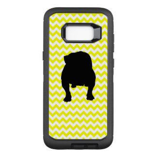 Sunshine Yellow Chevron With English Bull Dog OtterBox Defender Samsung Galaxy S8+ Case
