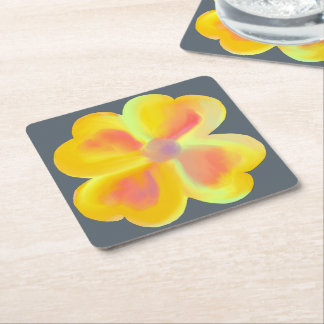 Sunshine Yellow Flower Coaster