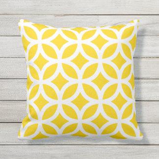Sunshine Yellow Geometric Pattern Outdoor Pillows