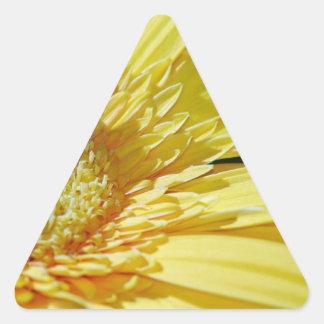 Sunshine Yellow Gerbera Daisy Triangle Sticker