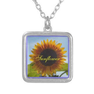 Sunshiny Day Sunflower Silver Plated Necklace