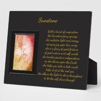 Sunstone Crystal Fairy Plaque