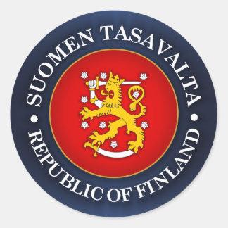 Suomen Vaakuna Classic Round Sticker