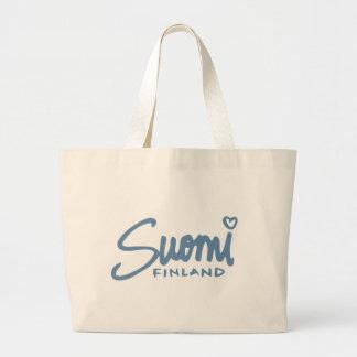 Suomi Finland 4 Large Tote Bag