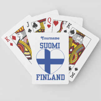 SUOMI FINLAND custom playing cards