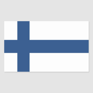 SUOMI FINLAND FLAG RECTANGULAR STICKER
