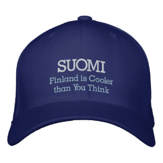 SUOMI, Finland is Cooler than You Think Embroidered Hat