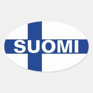 Suomi (Finland) Oval Sticker