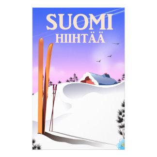 Suomi Hiihtää (Finland to ski) Stationery