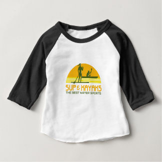 SUP and Kayak Water Sports Retro Baby T-Shirt