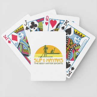 SUP and Kayak Water Sports Retro Bicycle Playing Cards
