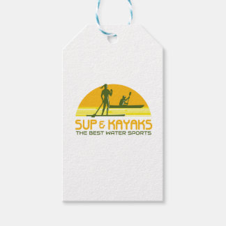 SUP and Kayak Water Sports Retro Gift Tags