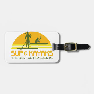 SUP and Kayak Water Sports Retro Luggage Tag