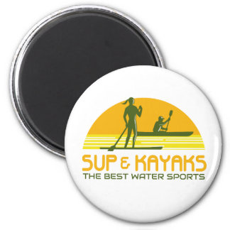 SUP and Kayak Water Sports Retro Magnet