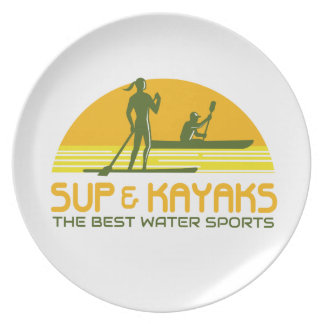 SUP and Kayak Water Sports Retro Plate
