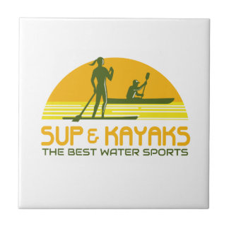 SUP and Kayak Water Sports Retro Tile