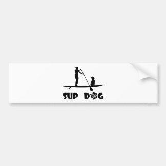 SUP Dog Sitting Bumper Sticker